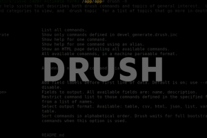 "Text ""Drush"" visible on the background made from drush screenshot"